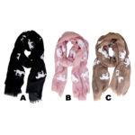 Long Custom Colored Horse Pattern Print Fashion Scarves: Group Shot