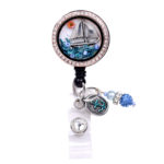 Sailboat Charm Locket Retractable Badge Reel ID Badge Holder: Featured Image