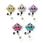 Colored Bling Rhinestone Crown Retractable Badge Holder Collection: Featured Image