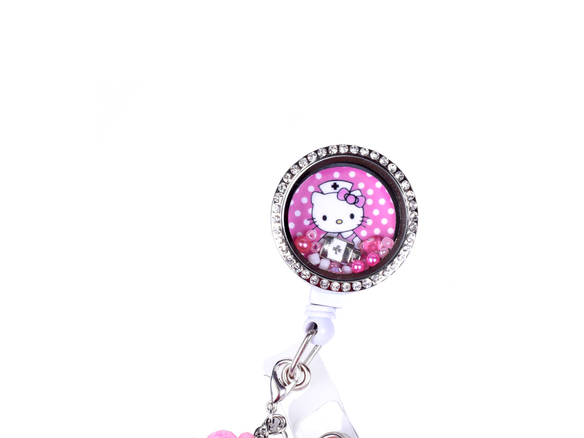 Pink Hello Kitty Nurse Charm Locket ID Badge Holder: Homepage Slider