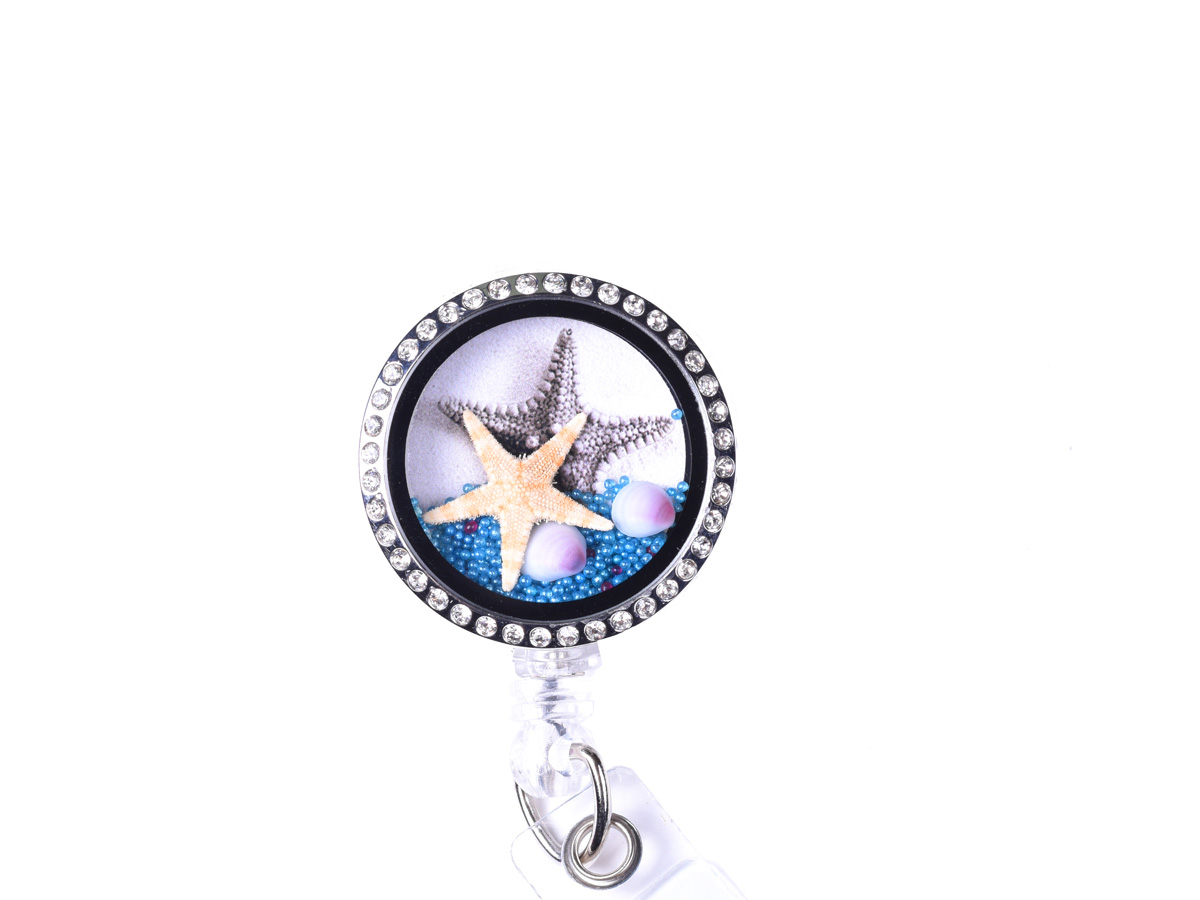 Sea Life Starfish Charm Locket Retractable Badge Reel: Homepage Slider