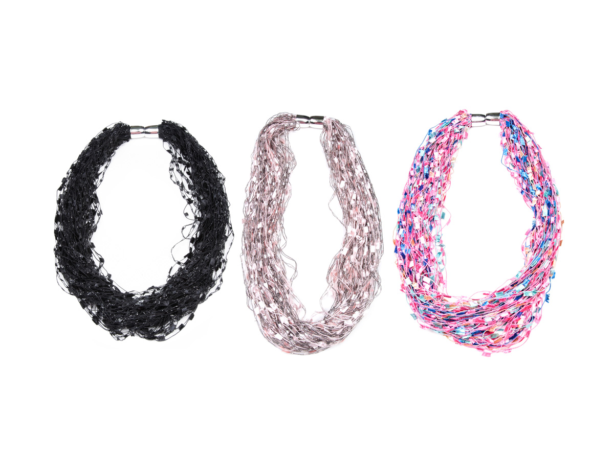 Women's Long Light-Weight Confetti Necklaces: Homepage Slider