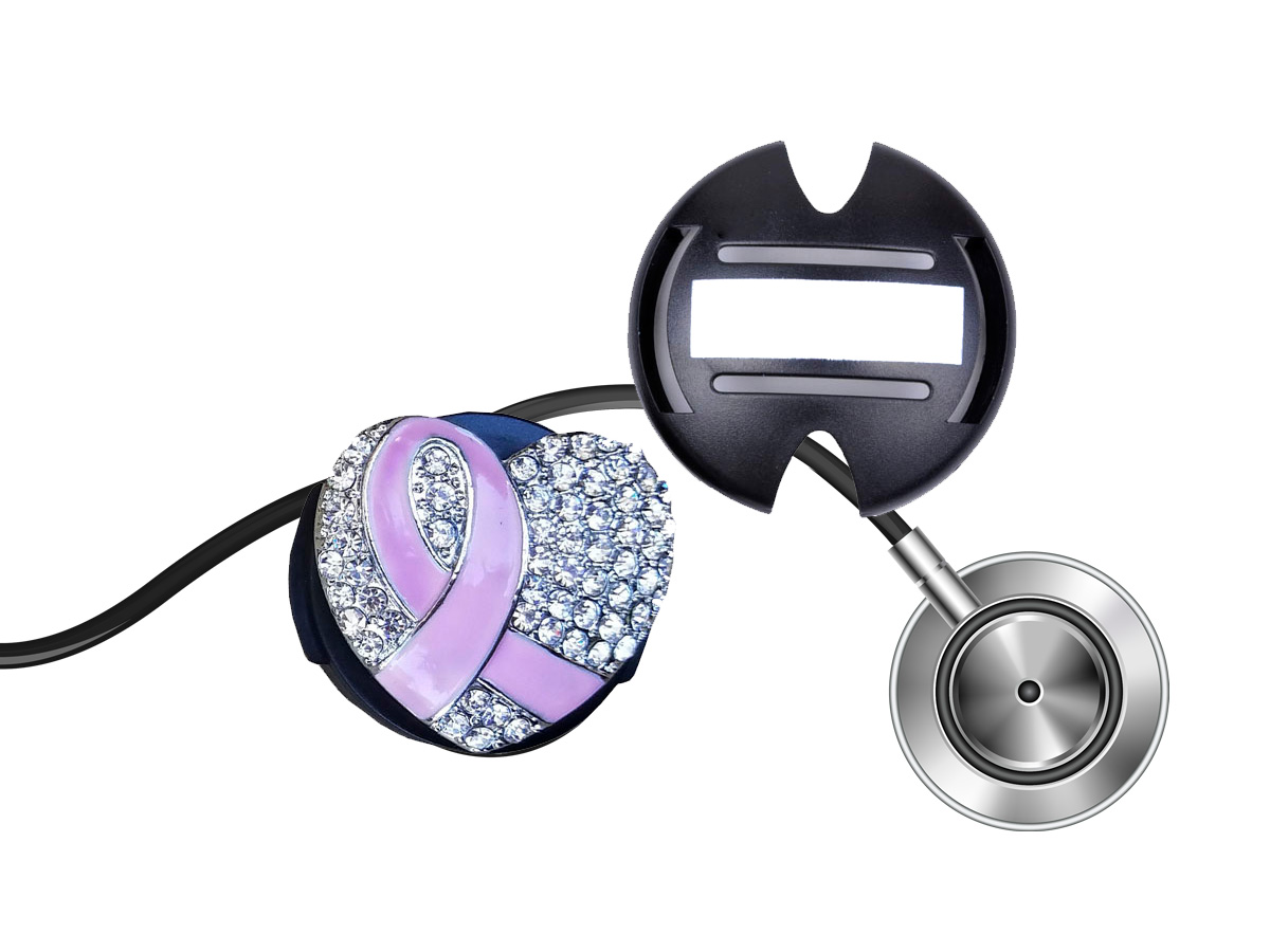 Breast Cancer Pink Ribbon Heart Stethoscope Tag: Homepage Slider